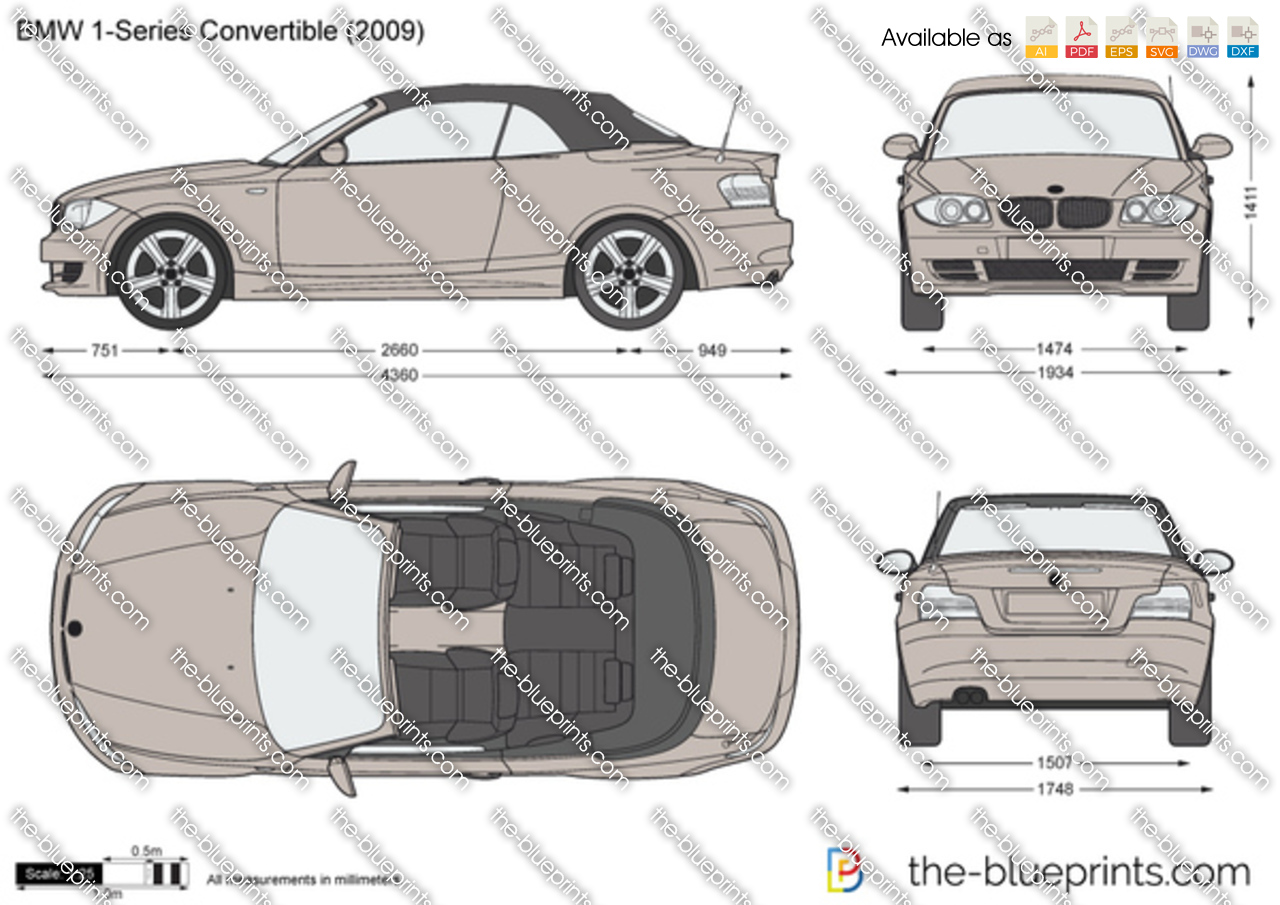 bmw 1 series convertible e88 vector drawing. Black Bedroom Furniture Sets. Home Design Ideas