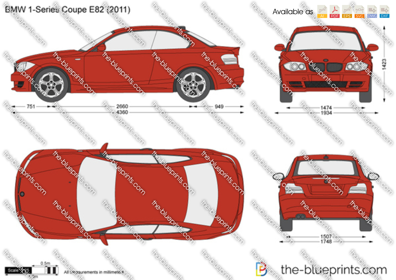 bmw 1 series coupe e82 vector drawing. Black Bedroom Furniture Sets. Home Design Ideas