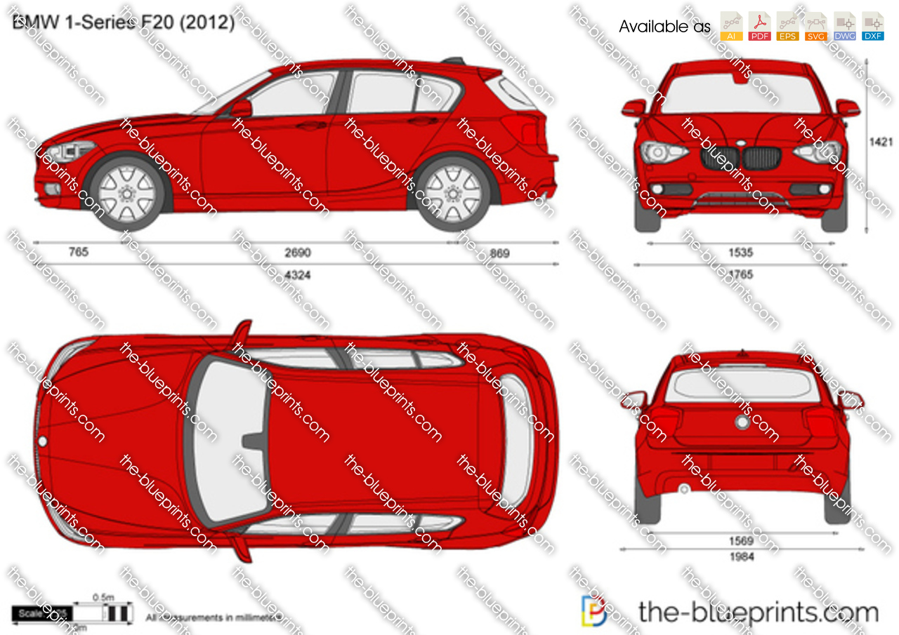 Bmw 1 Series F20 Vector Drawing