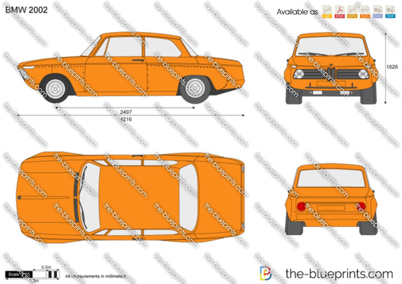 Bmw 2002 For Sale >> The-Blueprints.com - Vector Drawing - BMW 2002