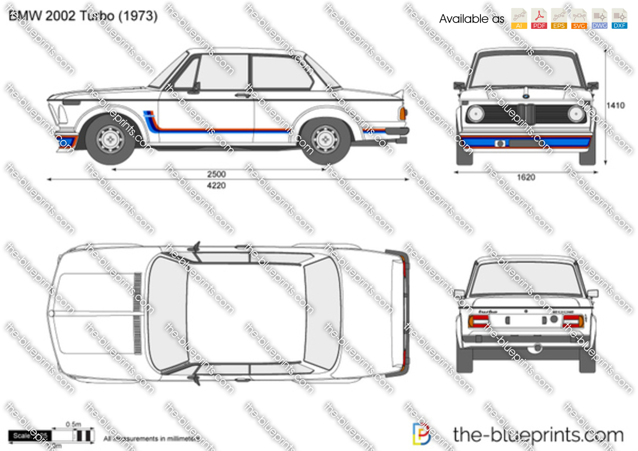 BMW 2002 Turbo vector drawing