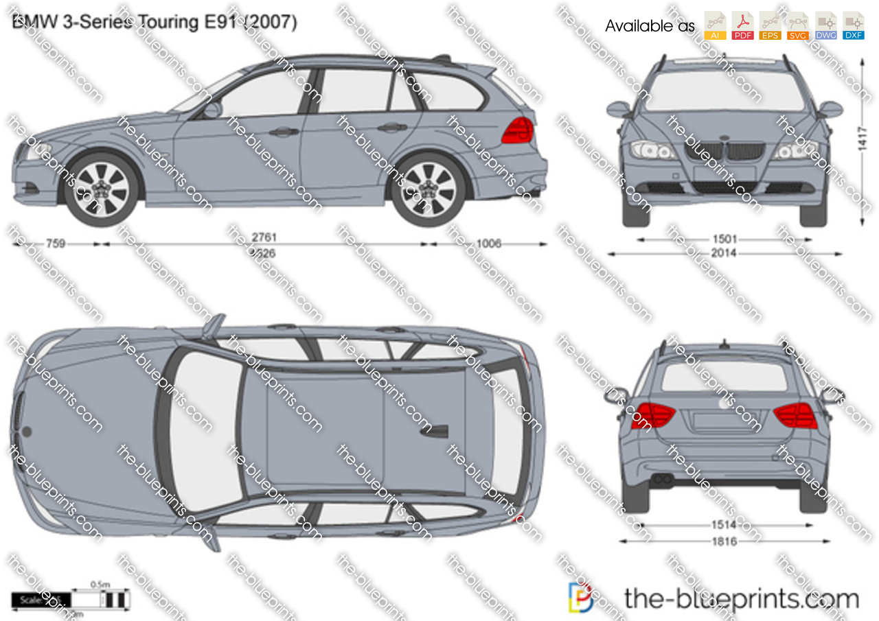 bmw 3 series touring e91 vector drawing. Black Bedroom Furniture Sets. Home Design Ideas