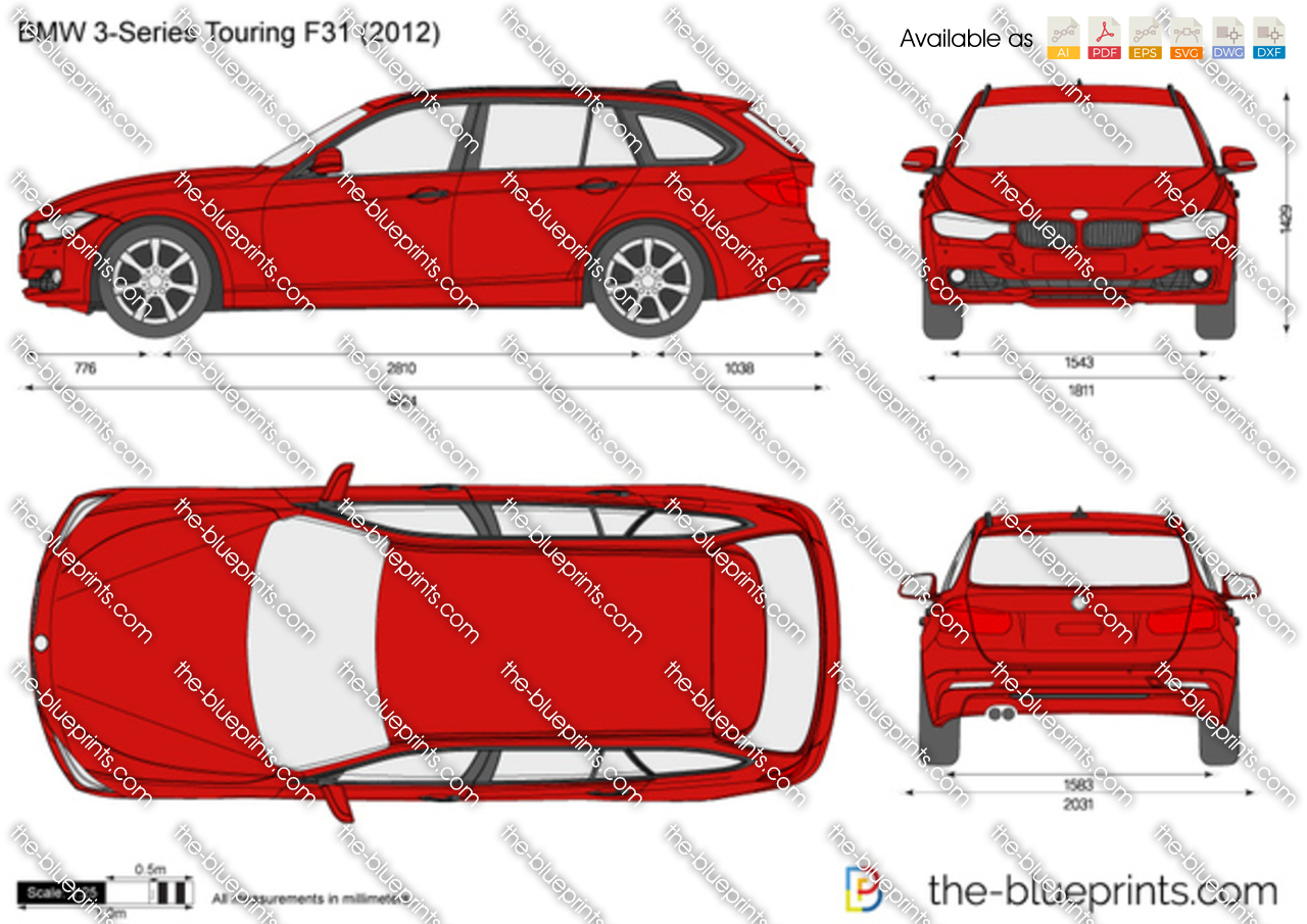 bmw 3 series touring f31 vector drawing. Black Bedroom Furniture Sets. Home Design Ideas
