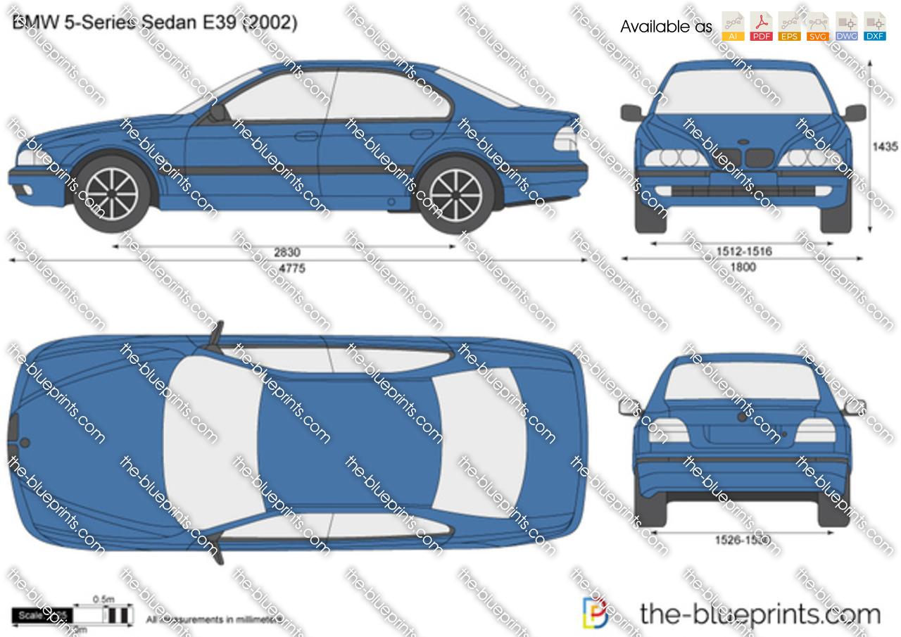 BMW 5-Series Sedan E39 1998