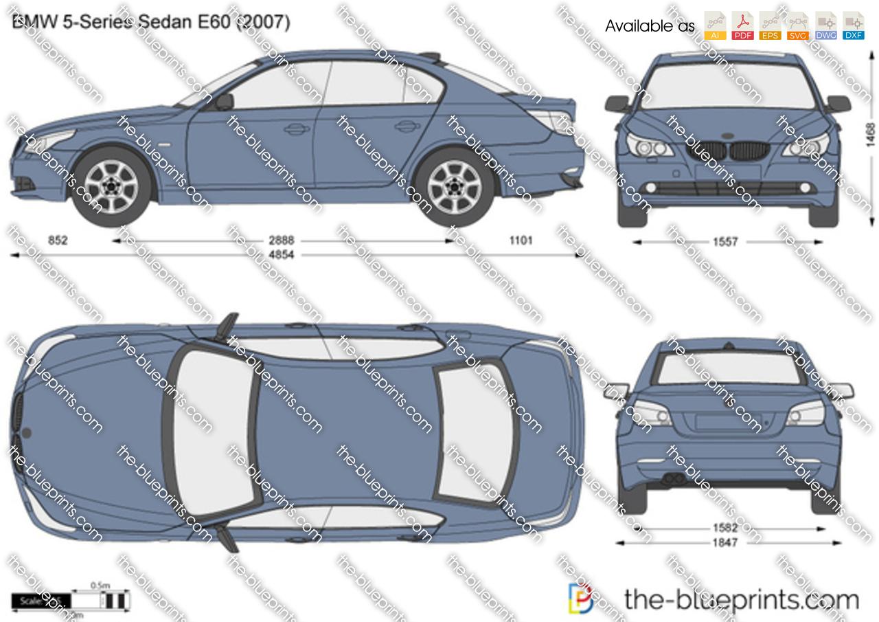 bmw 5 series sedan e60 vector drawing. Black Bedroom Furniture Sets. Home Design Ideas