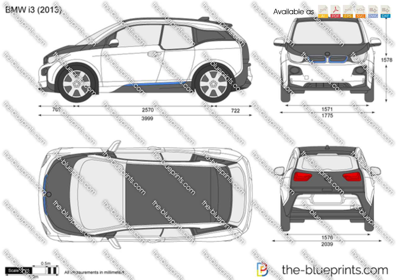 bmw i3 vector drawing. Black Bedroom Furniture Sets. Home Design Ideas