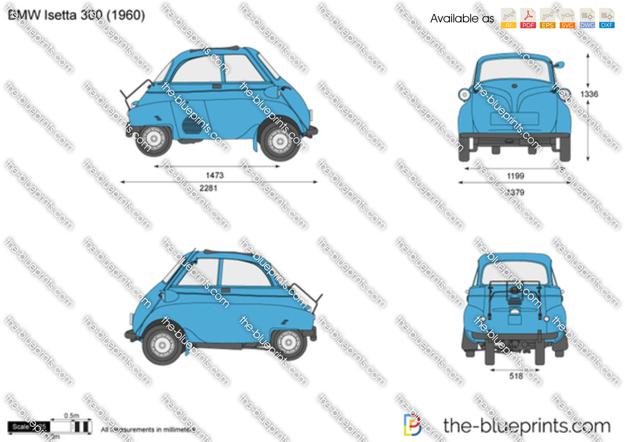 Bmw Isetta 300 Vector Drawing
