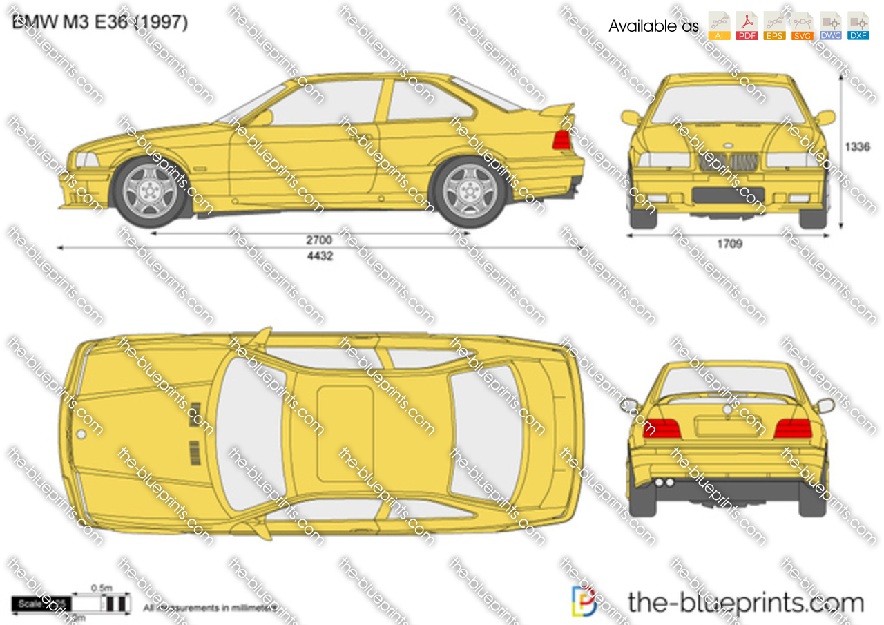 Bmw M3 E36 Vector Drawing