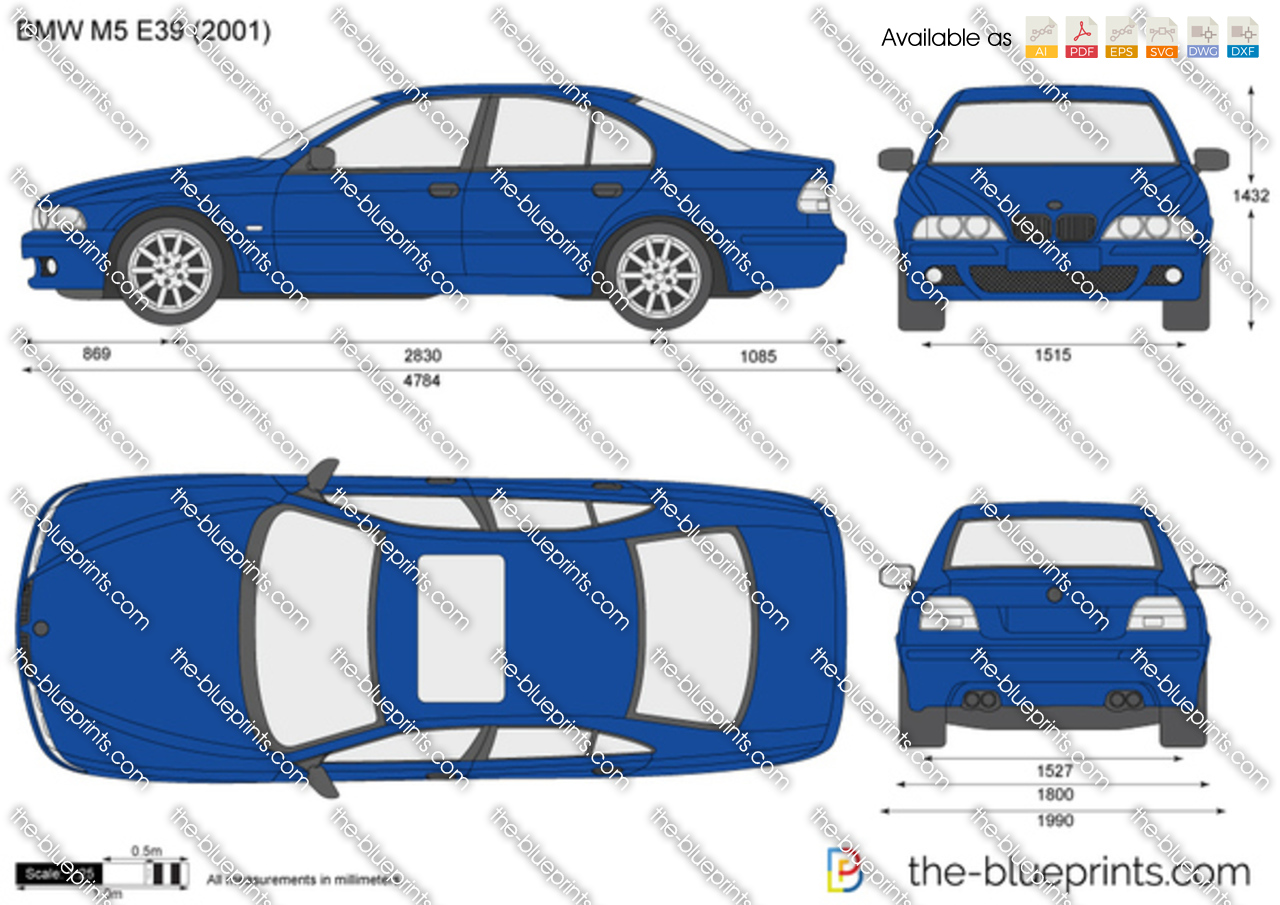 Bmw M5 E39 Vector Drawing