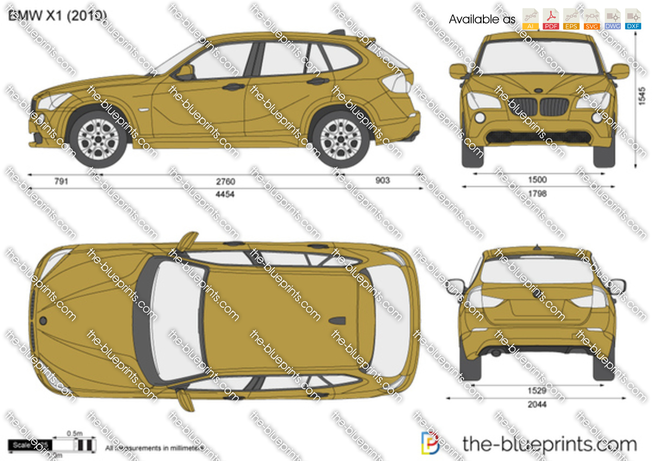 bmw x1 e84 vector drawing. Black Bedroom Furniture Sets. Home Design Ideas