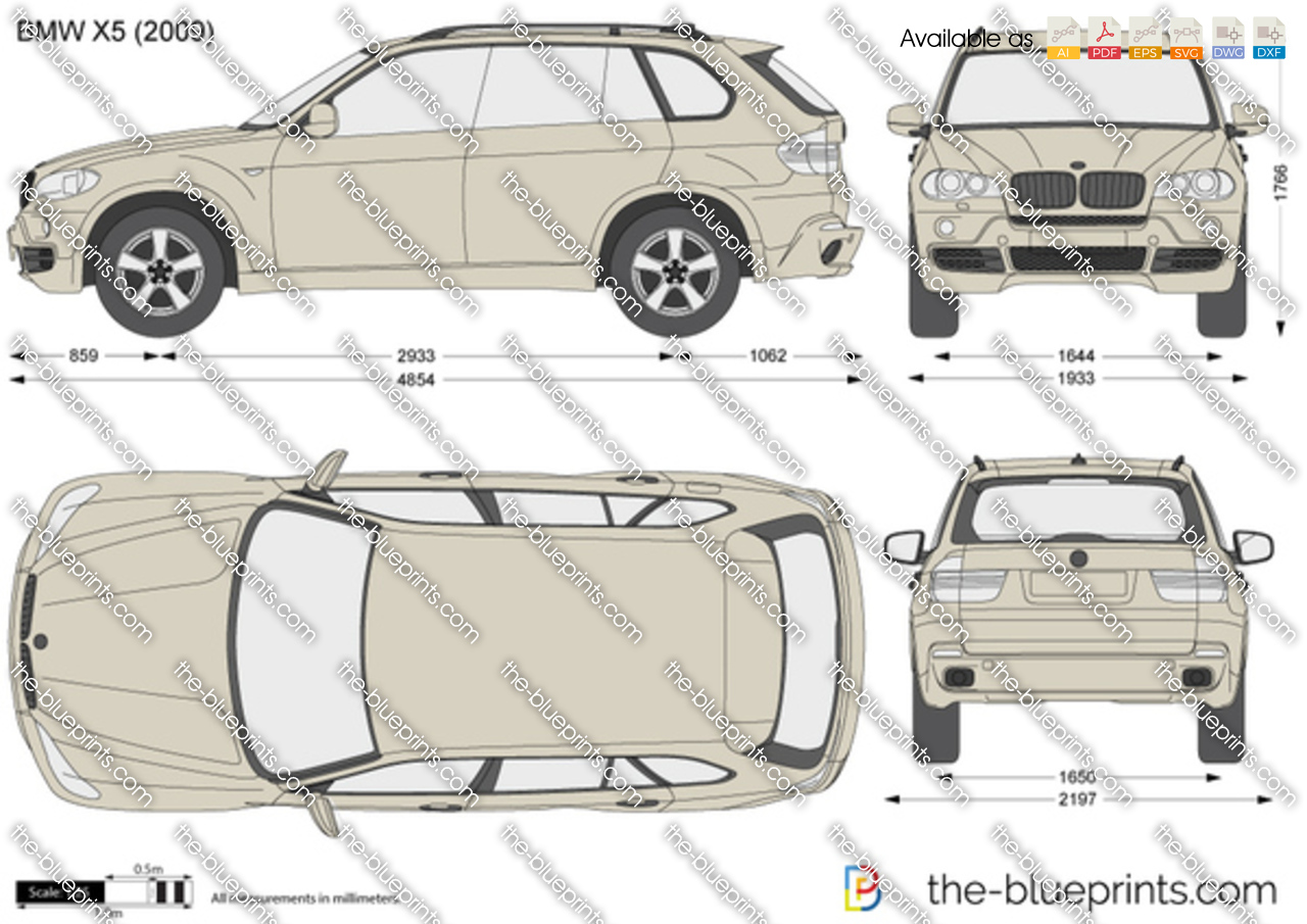 Bmw X5 E70 Vector Drawing
