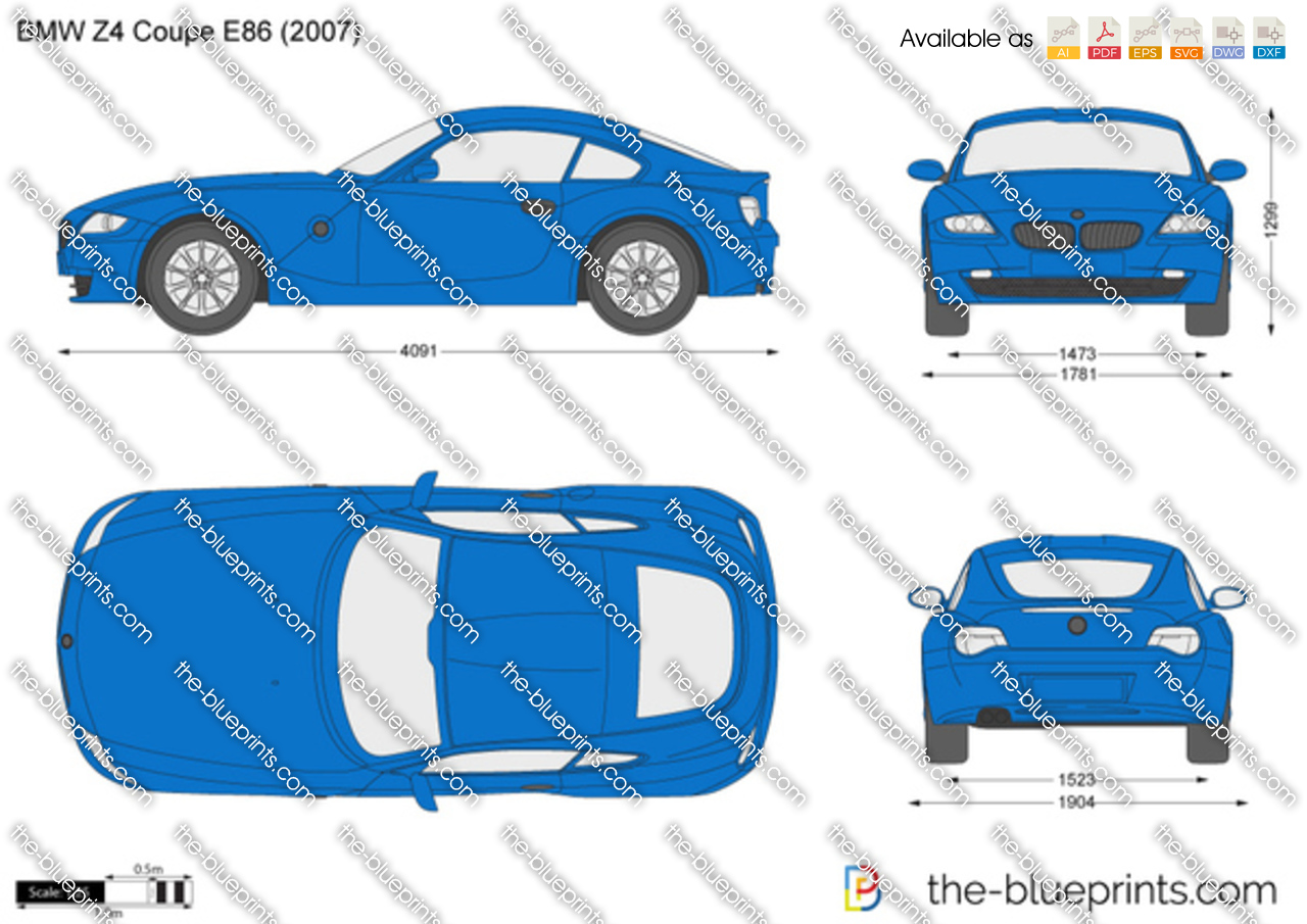 Bmw Z4 Coupe E86 Vector Drawing