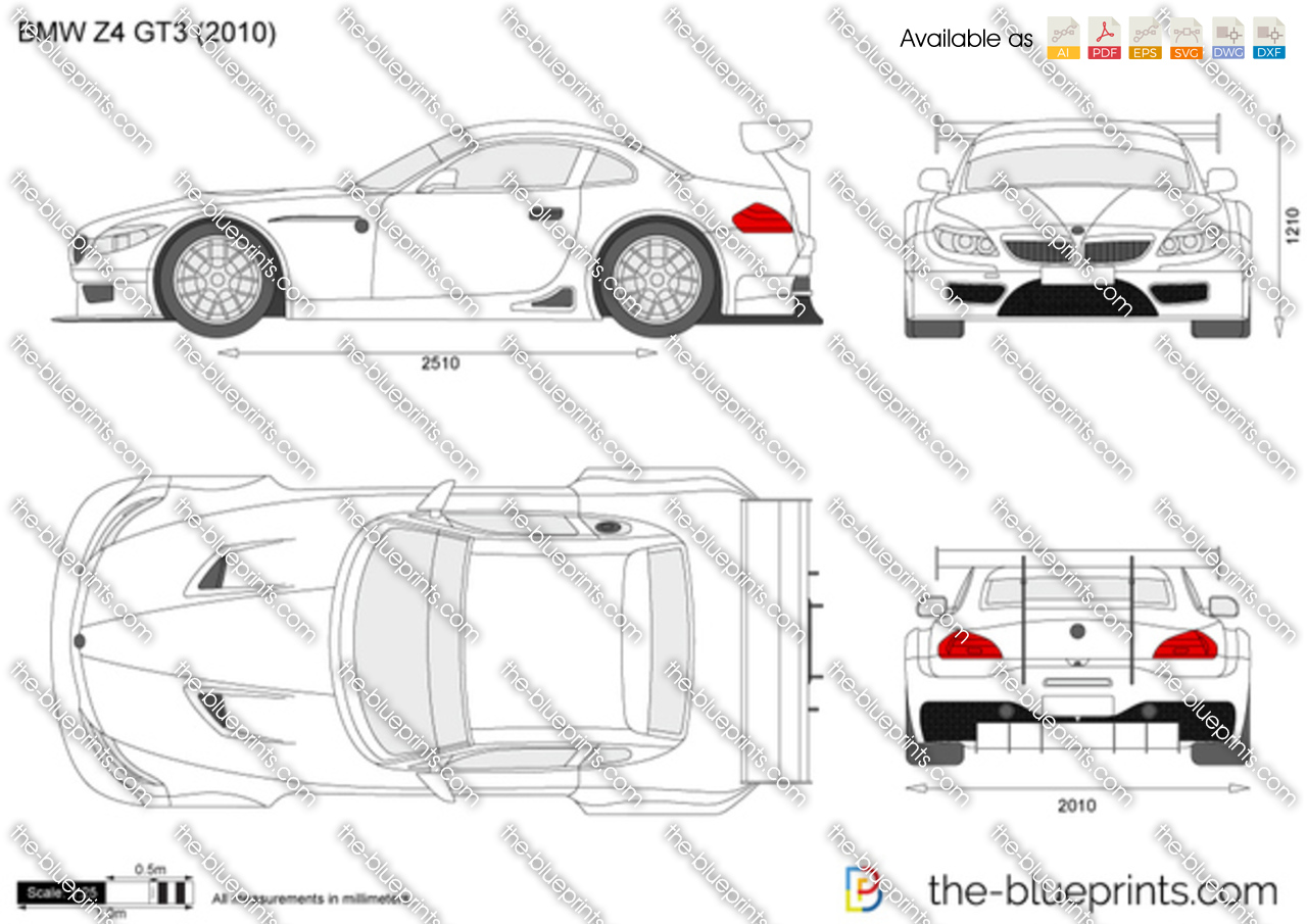 The Blueprints Com Vector Drawing Bmw Z4 Gt3