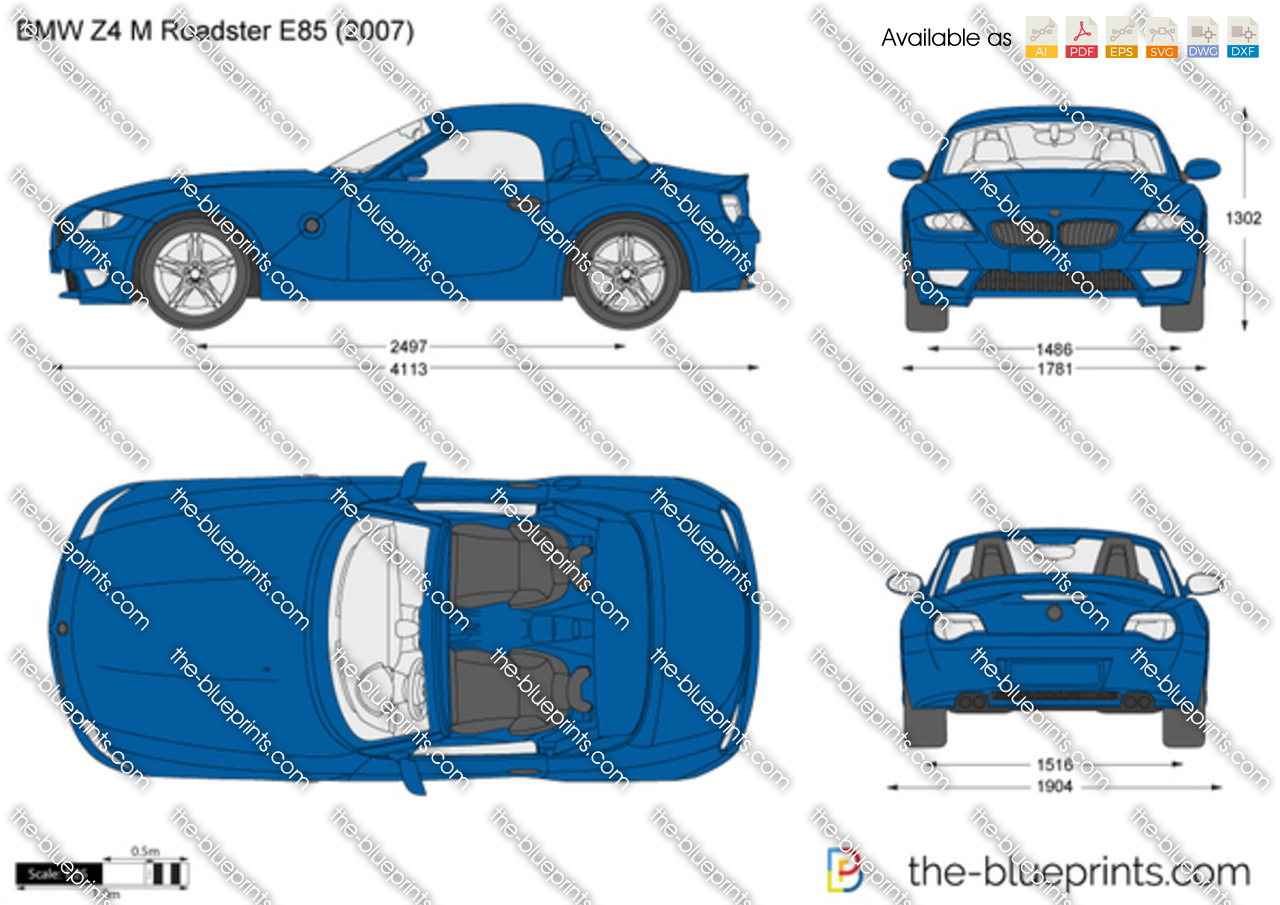 Bmw Z4 M Roadster E85 Vector Drawing