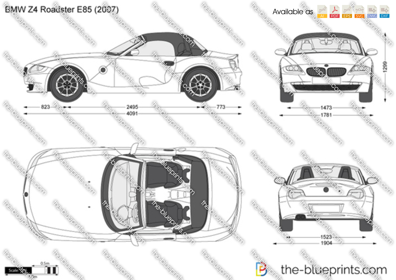 Bmw Z4 Roadster E85 Vector Drawing