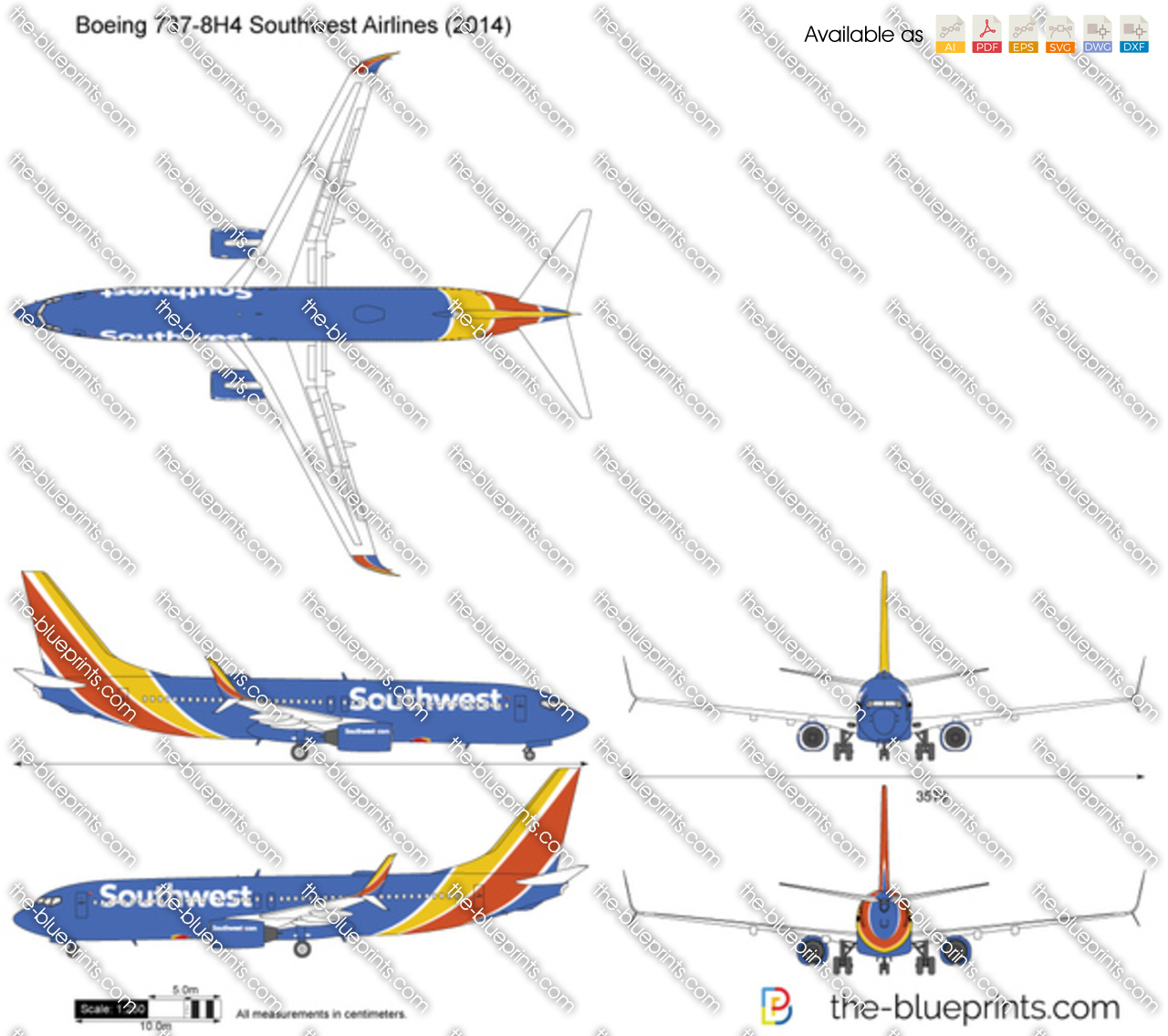 Boeing 737-8H4 Southwest Airlines 2016