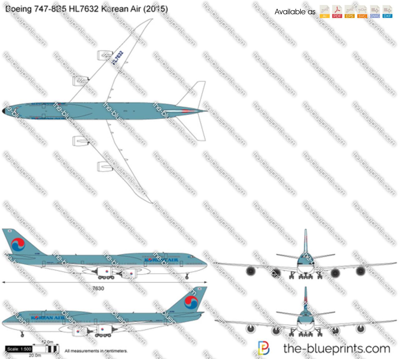 Boeing 747-8B5 HL7632 Korean Air 2017