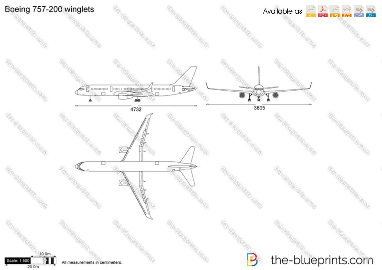 Boeing 757-200 winglets