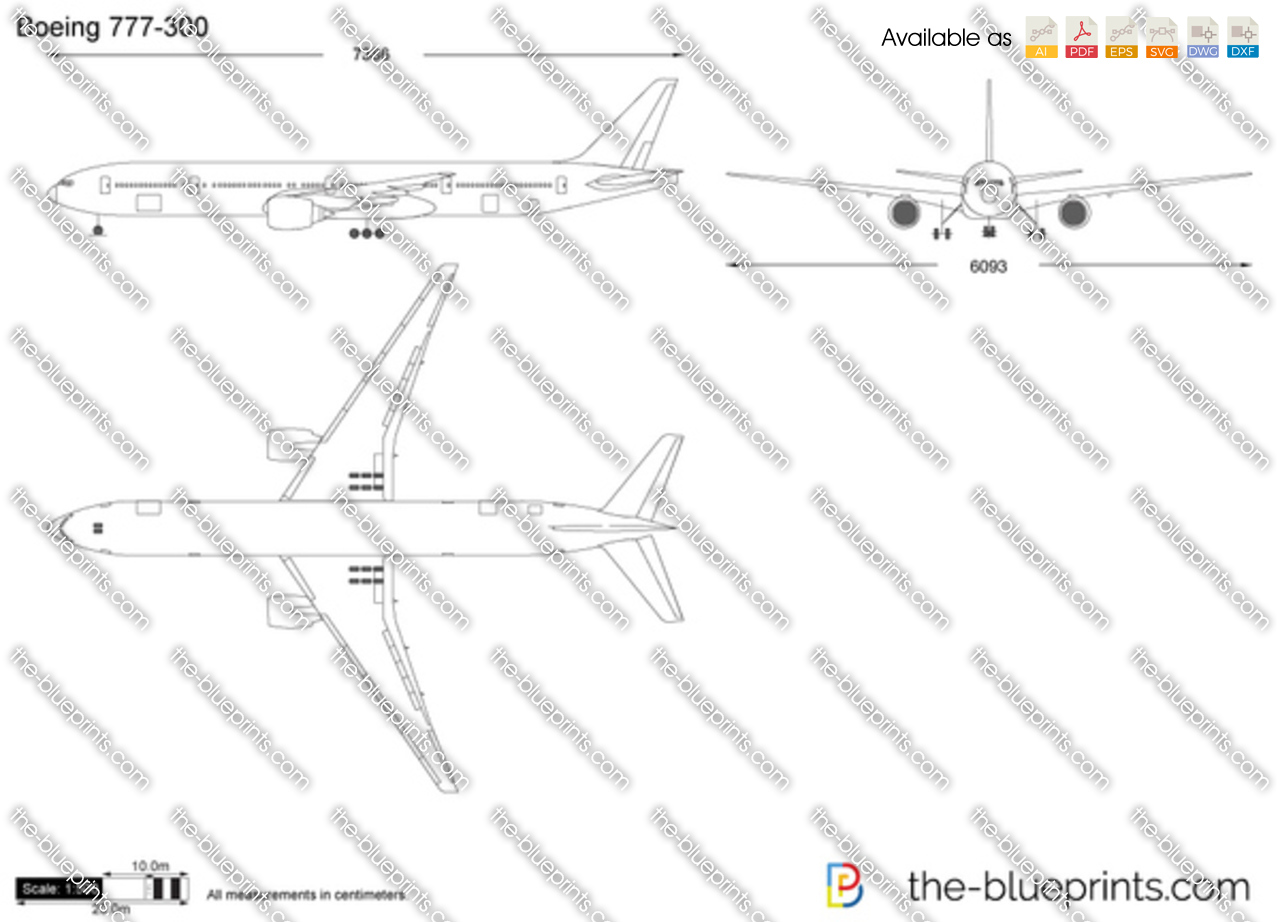 The Vector Drawing Boeing 777 300
