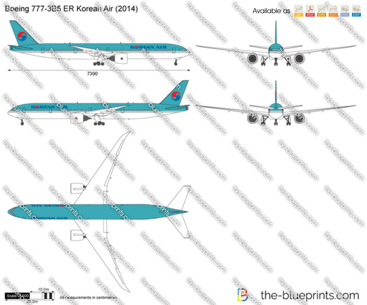 Boeing 777-3B5 ER Korean Air 2018