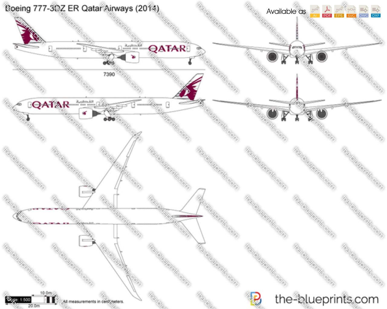 Boeing 777-3DZ ER Qatar Airways 2015
