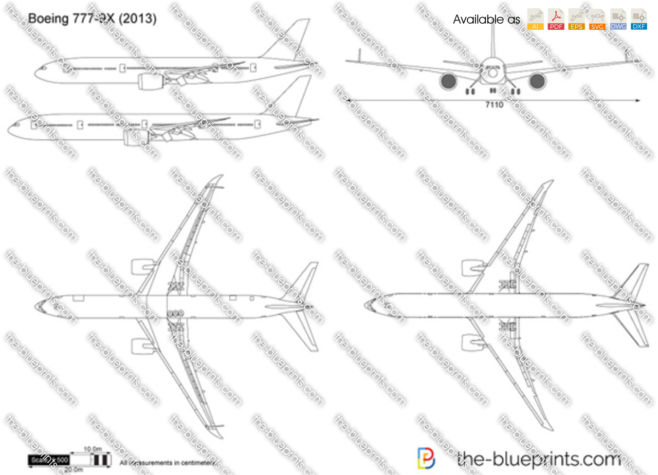 The Vector Drawing Boeing 777 9x