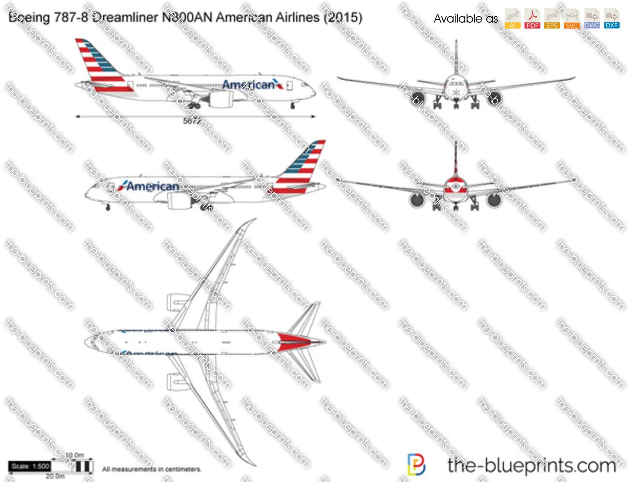 Boeing 787-8 Dreamliner N800AN American Airlines 2016