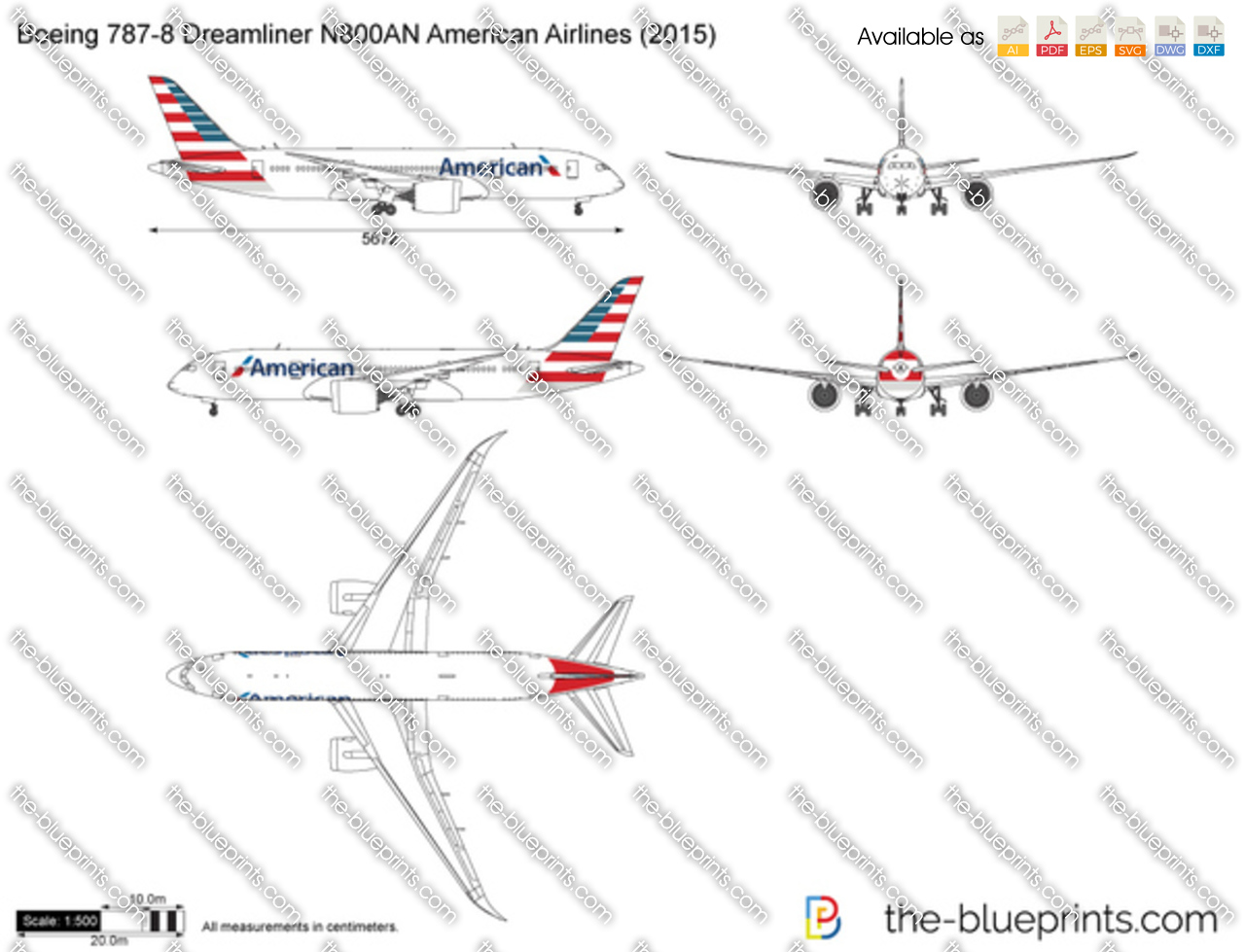 Boeing 787-8 Dreamliner N800AN American Airlines 2018