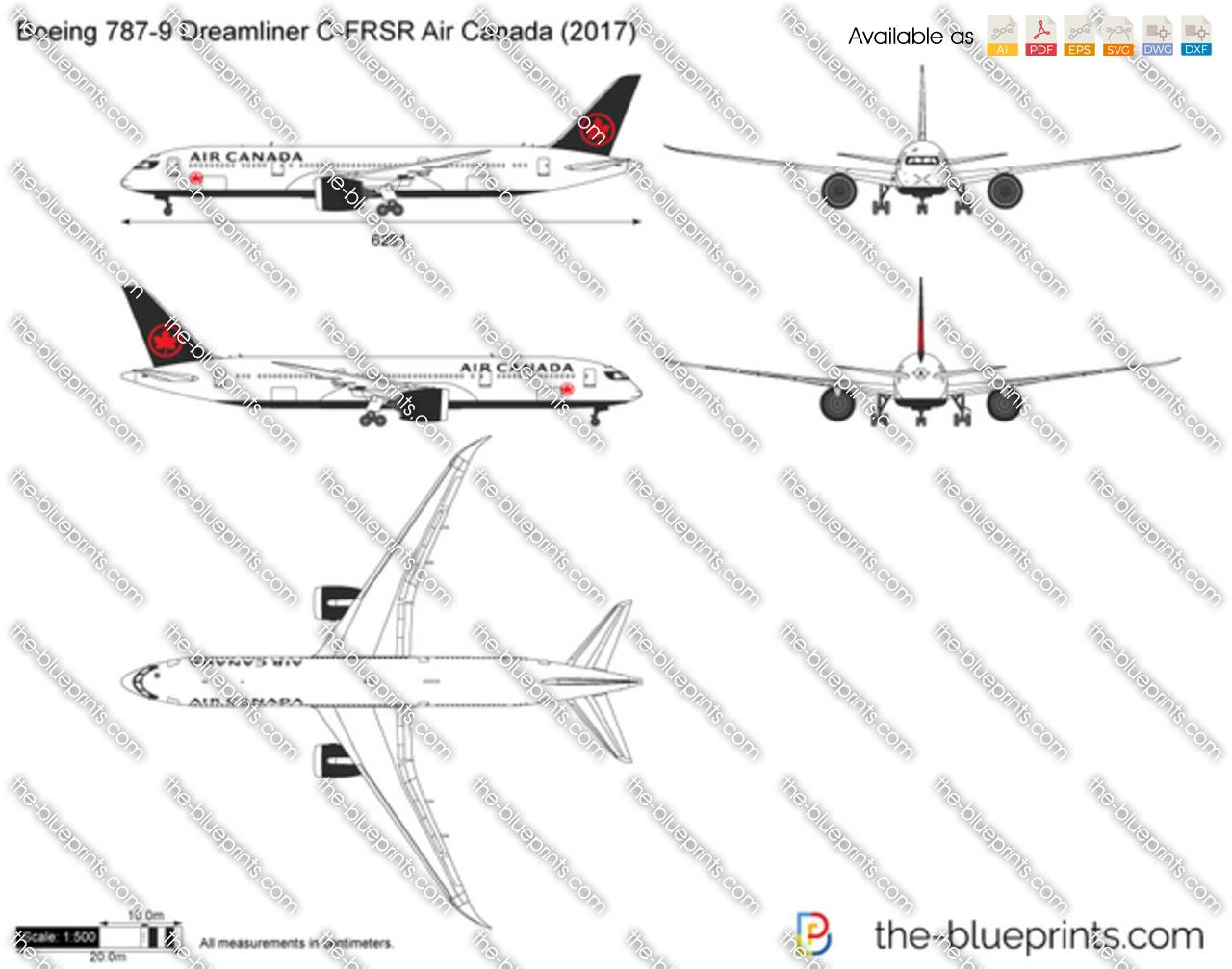 Boeing 787-9 Dreamliner C-FRSR Air Canada