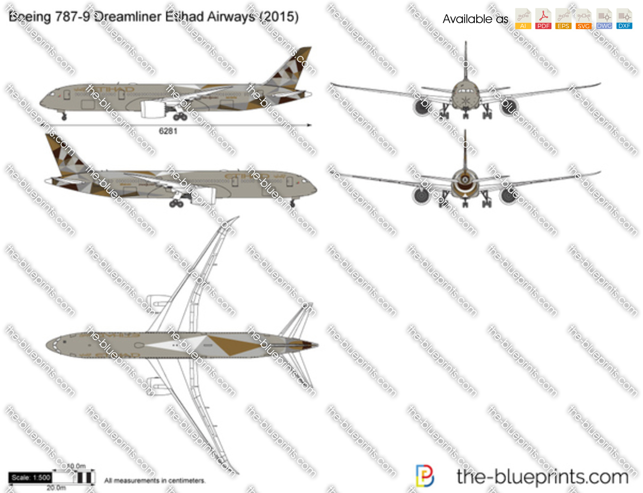 Boeing 787-9 Dreamliner Etihad Airways 2017