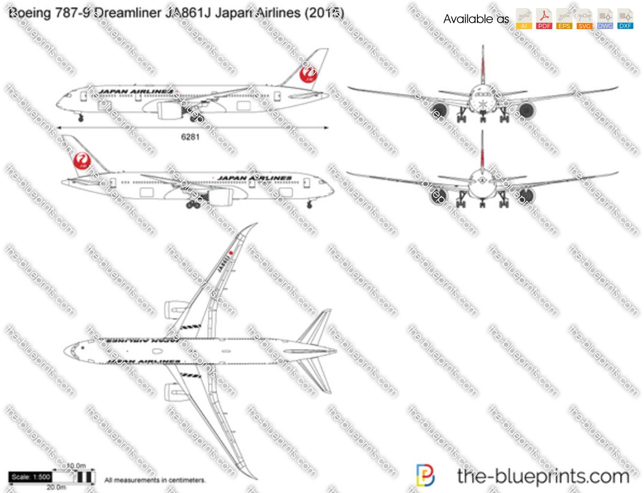 Boeing 787-9 Dreamliner JA861J Japan Airlines 2016