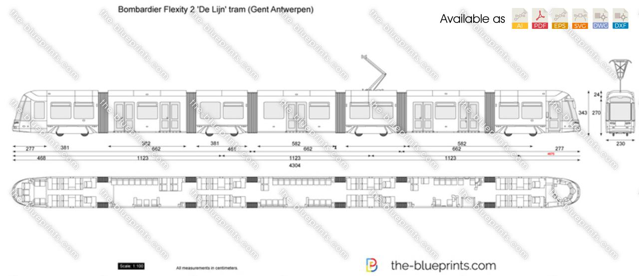 Bombardier Flexity 2 'De Lijn' tram (Gent Antwerpen)