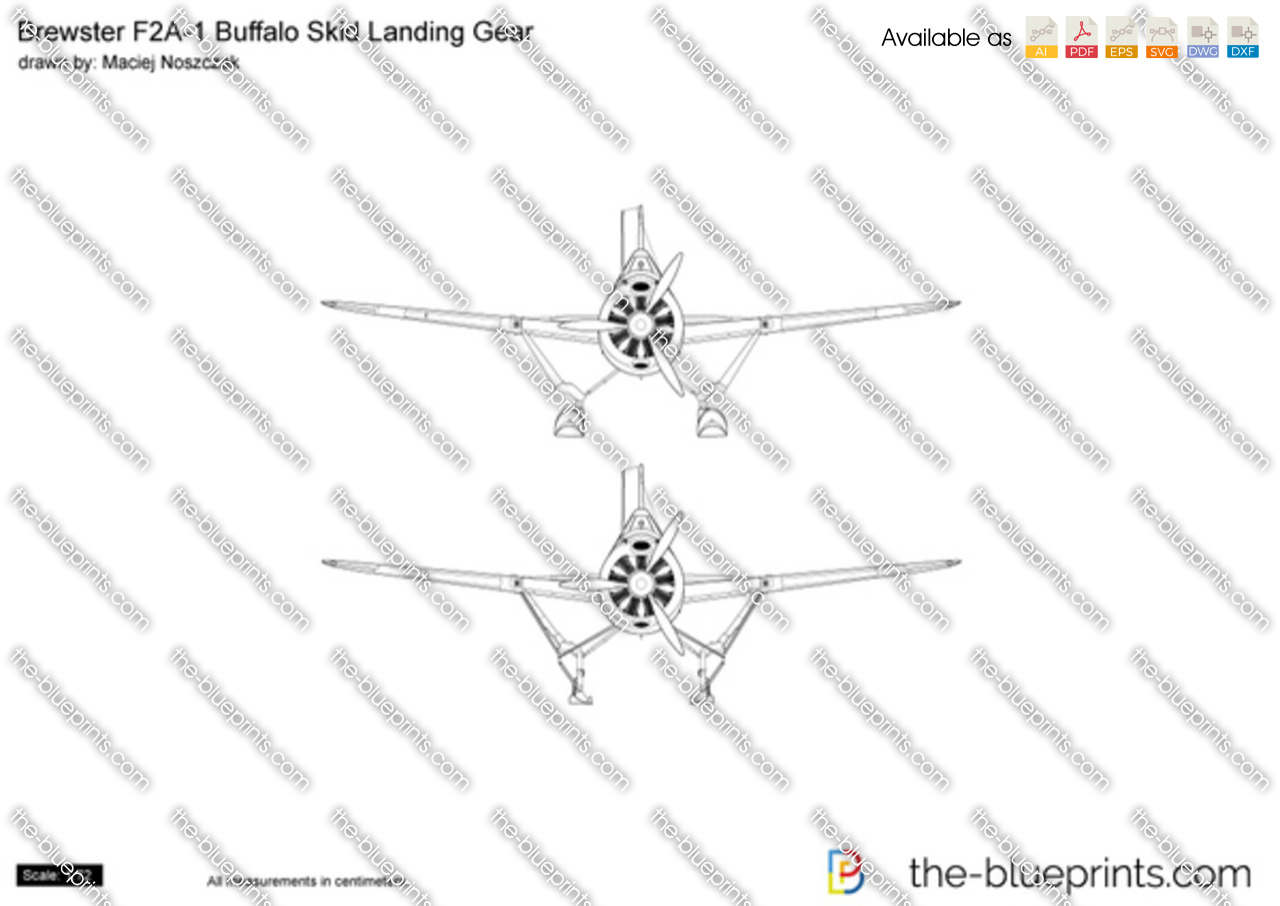 Brewster F2A-1 Buffalo Skid Landing Gear