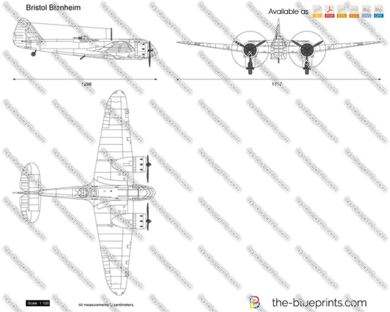 The blueprints vector drawing bristol blenheim malvernweather Image collections