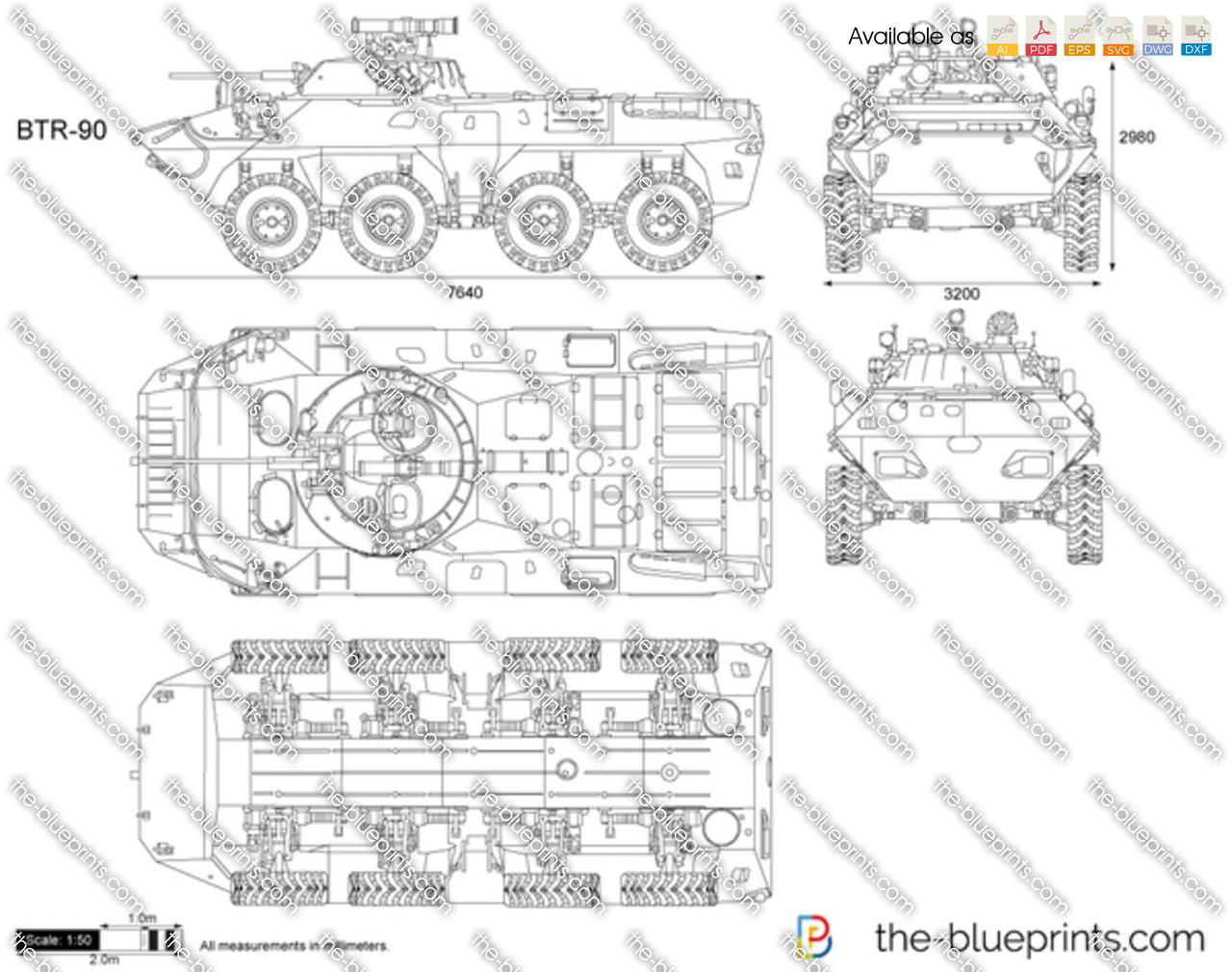 The Vector Drawing Btr 90