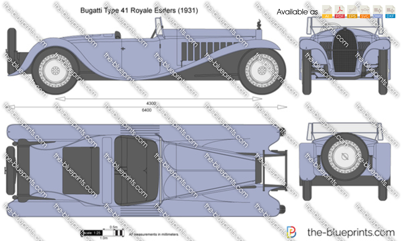 The-Blueprints.com - Vector Drawing - Bugatti Type 41 Royale Esders
