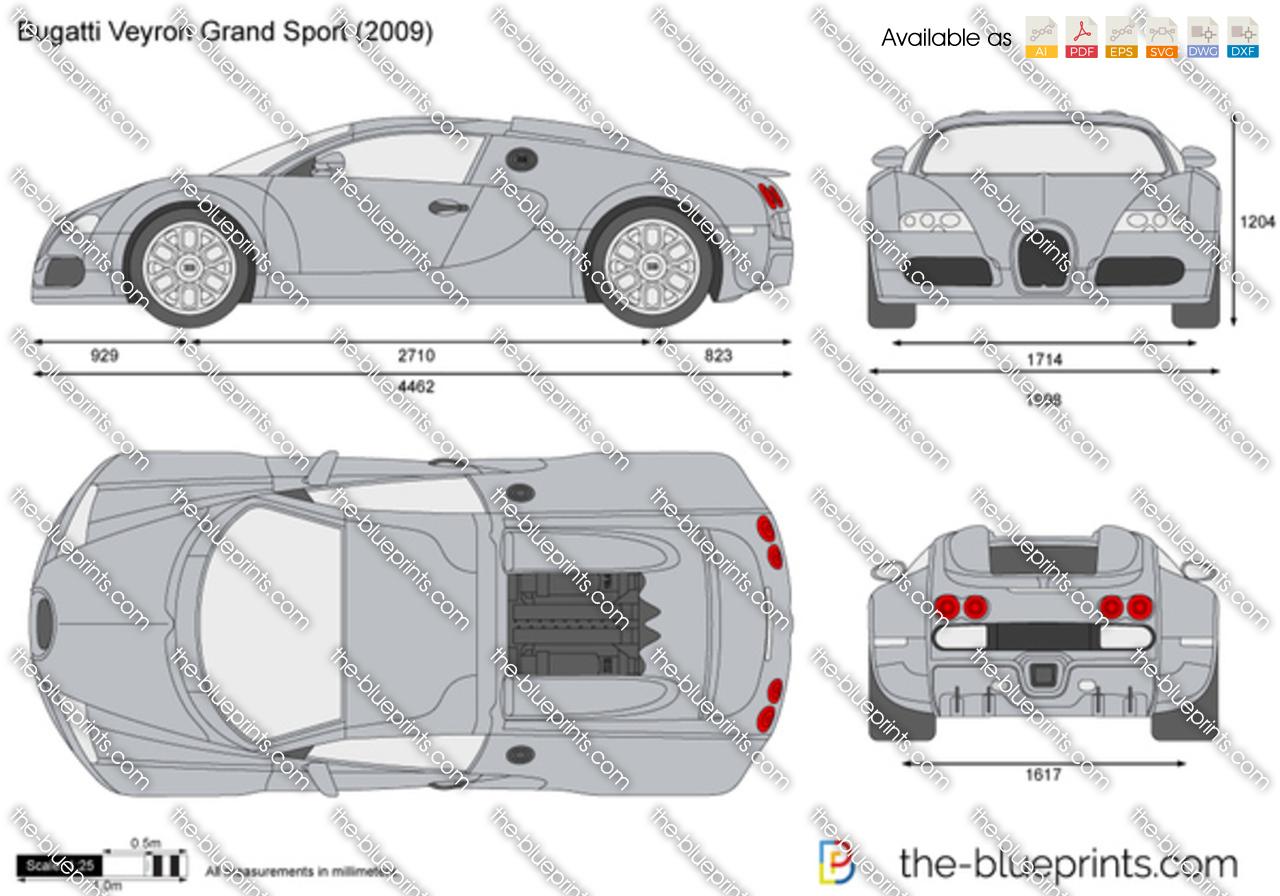 Bugatti Veyron Grand Sport Vector Drawing