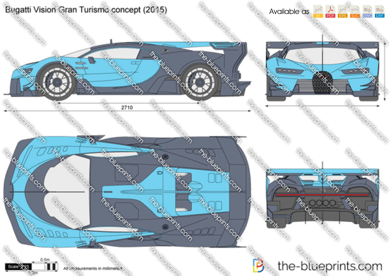 The-Blueprints.com - Vector Drawing - Bugatti Vision Gran Turismo ...