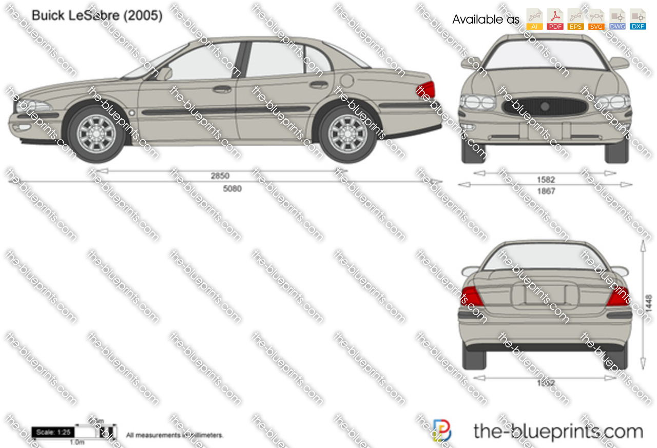 The vector drawing buick lesabre for 2003 buick lesabre window motor