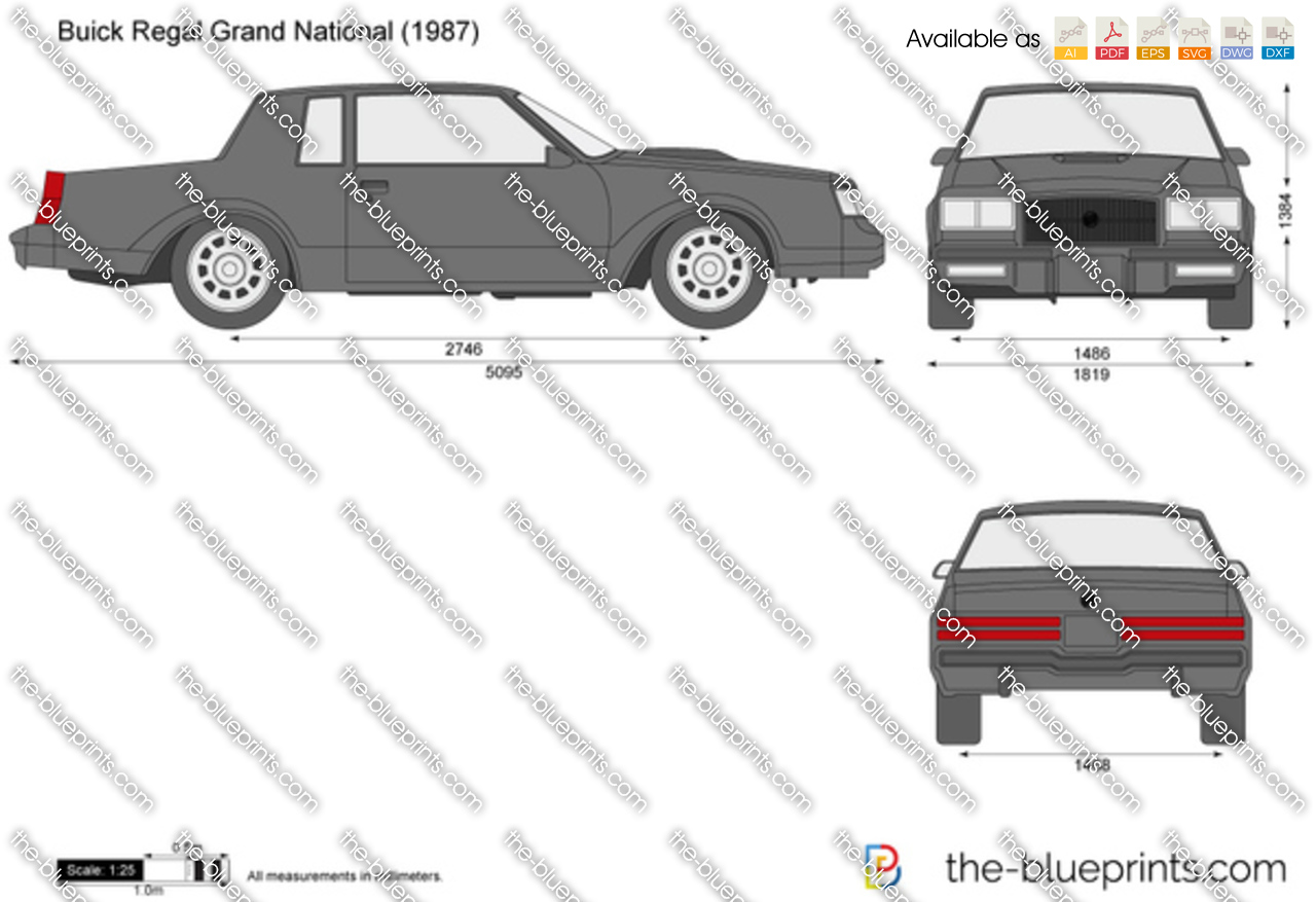 The-Blueprints.com - Vector Drawing - Buick Regal Grand ...