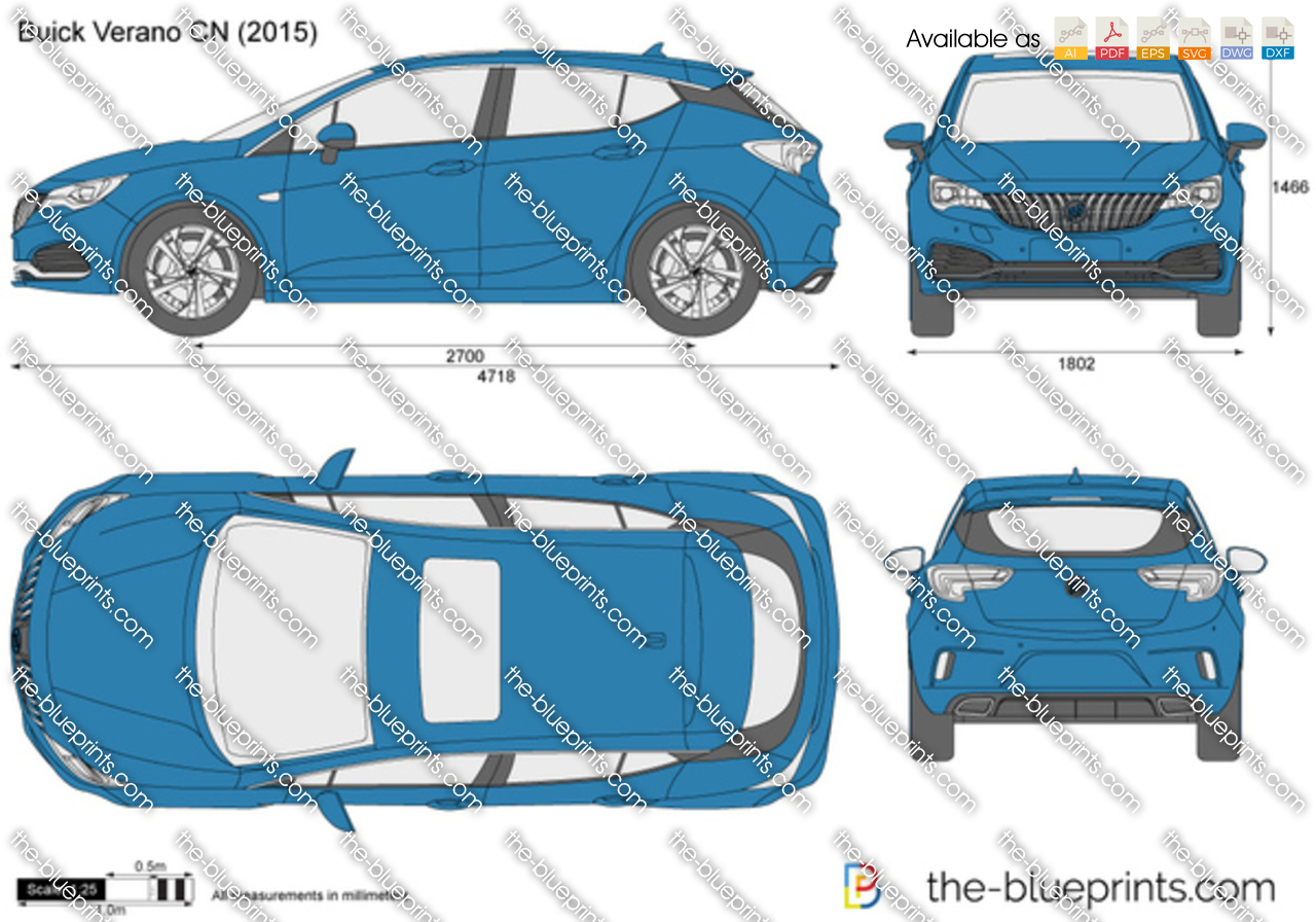 Buick Verano Cn Vector Drawing