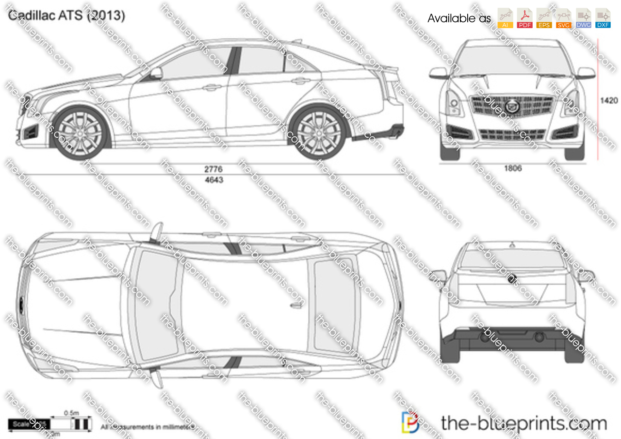 Cadillac ATS vector drawing