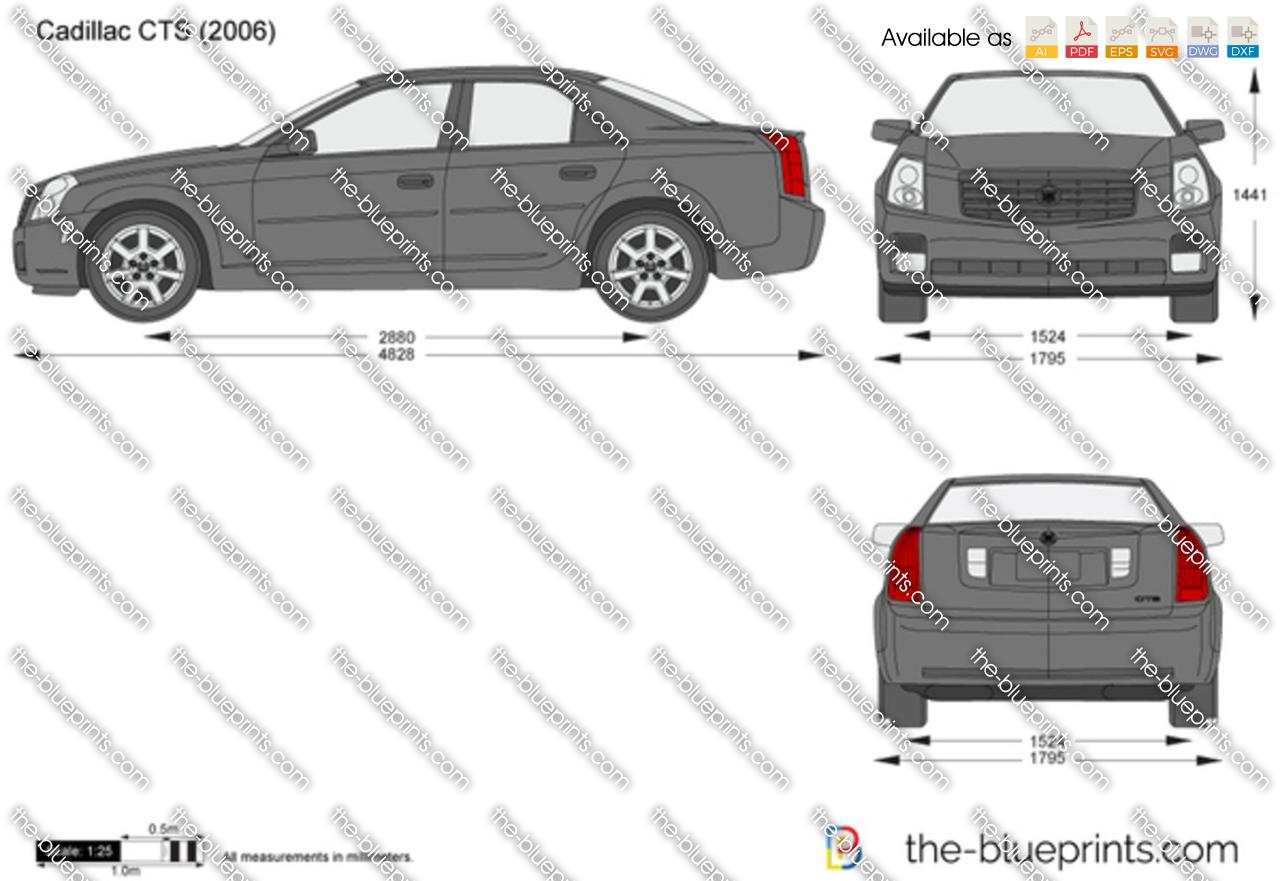 Blueprints > Cars > Cadillac > Cadillac CTS (2008)