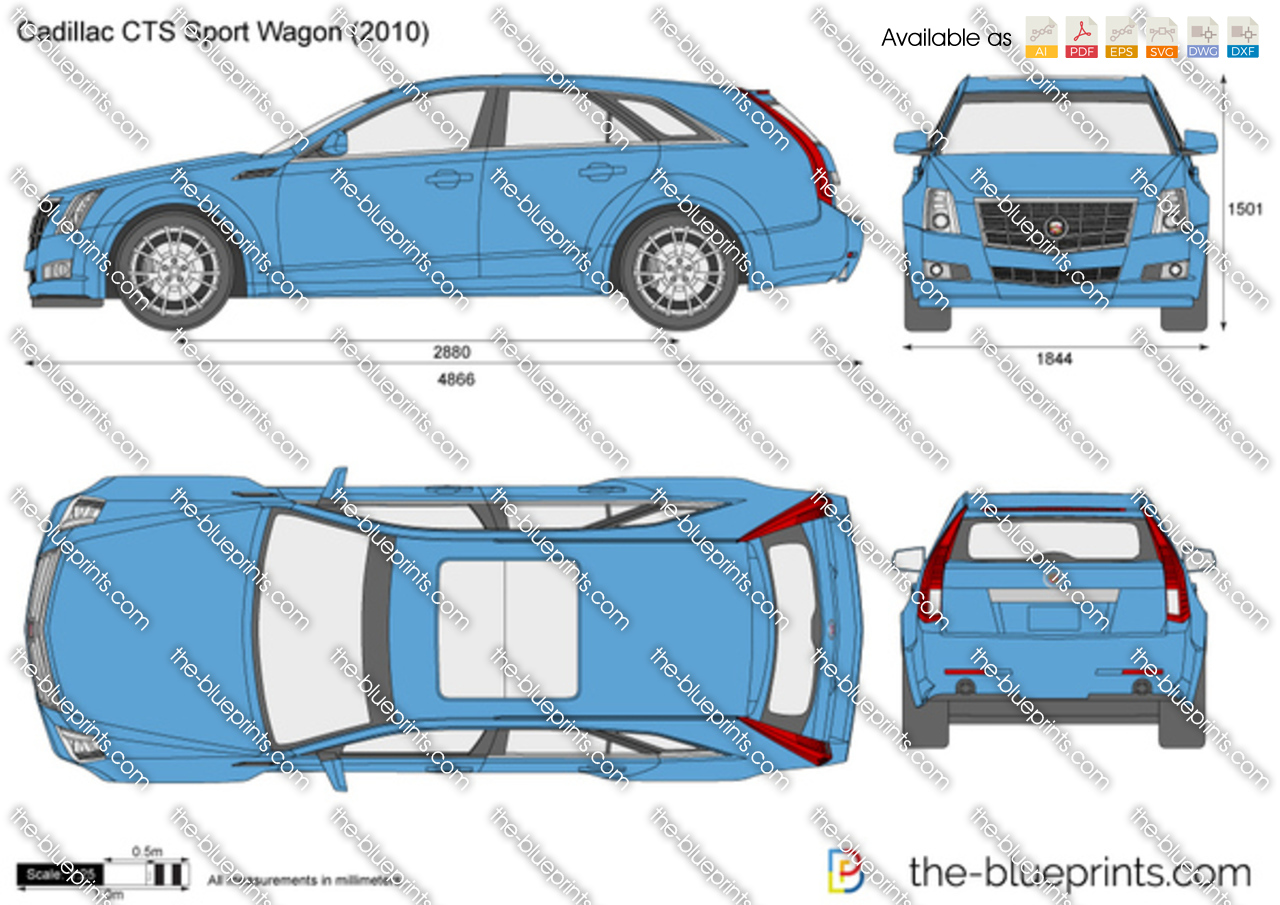 2014 Nissan Quest For Sale >> Cadillac CTS Sport Wagon vector drawing