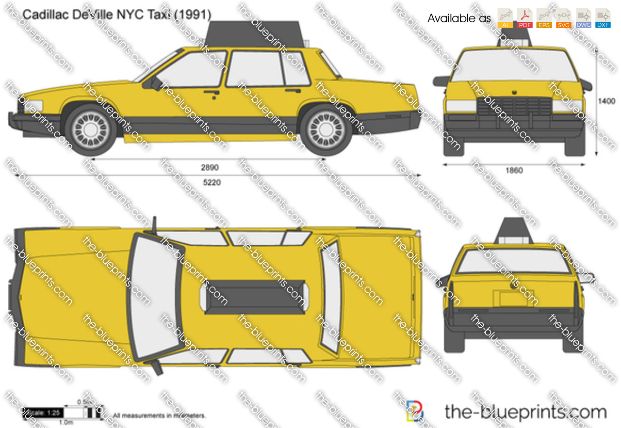 Cadillac DeVille NYC Taxi