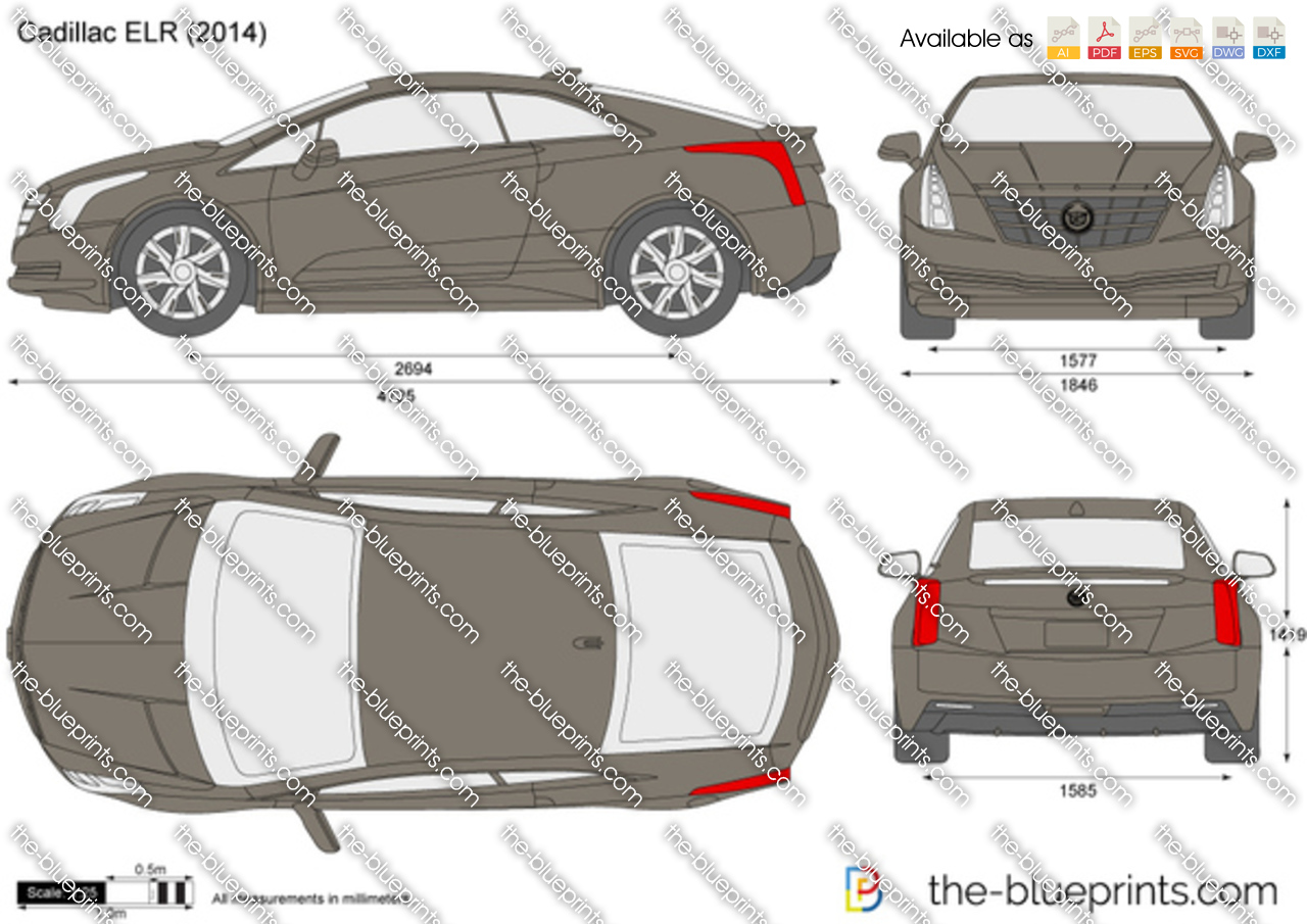 The blueprints vector drawings drawing sets cadillac elr malvernweather Image collections