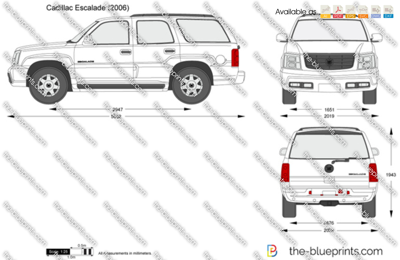cadillac escalade vector drawing