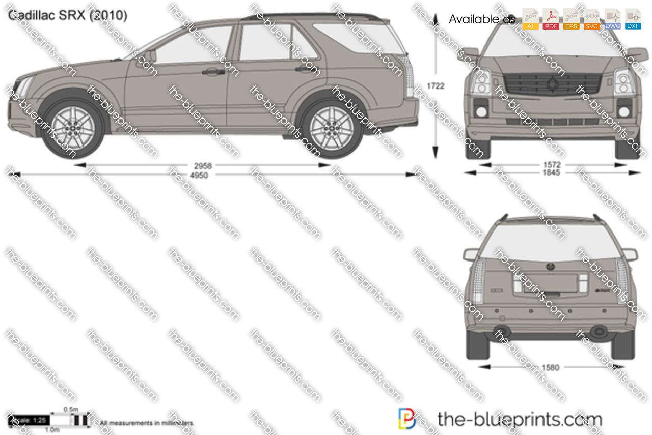 The Blueprints Com Vector Drawing Cadillac Srx