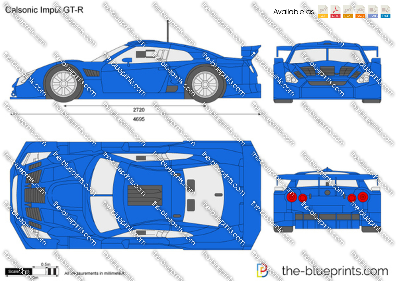 The Blueprints Com Vector Drawing Calsonic Impul Gt R