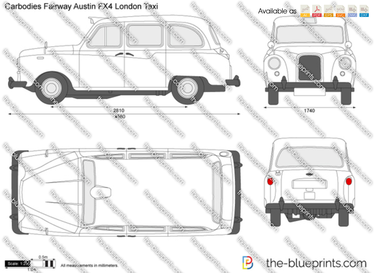 Carbodies Fairway Austin FX4 London Taxi 1958
